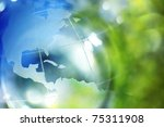 blue and green earth background | Shutterstock . vector #75311908