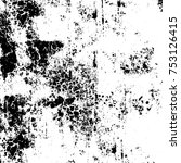 vector black and white grunge... | Shutterstock .eps vector #753126415