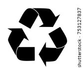 recycle sign icon | Shutterstock .eps vector #753127837