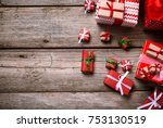 merry christmas. decoration for ... | Shutterstock . vector #753130519