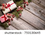 merry christmas. decoration for ... | Shutterstock . vector #753130645