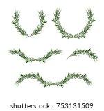 vector decorative element set....   Shutterstock .eps vector #753131509