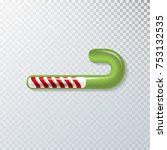 christmas realistic candy... | Shutterstock .eps vector #753132535