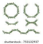 vector  decorative big element...   Shutterstock .eps vector #753132937