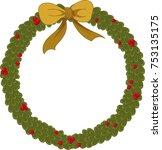 christmas new year winter... | Shutterstock .eps vector #753135175