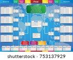 sport fixture and result...   Shutterstock .eps vector #753137929