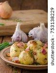 Small photo of Bacon dumplings delish food, original czech food delish cheap