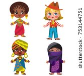 people of different... | Shutterstock .eps vector #753144751