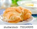delicious breakfast with...   Shutterstock . vector #753149095