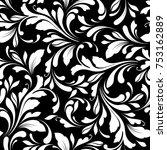 floral seamless pattern.... | Shutterstock .eps vector #753162889