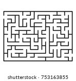 abstract maze   labyrinth with... | Shutterstock .eps vector #753163855
