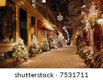 Deserted Street In Quebec City...