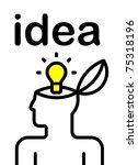 illustration of idea bulb in... | Shutterstock .eps vector #75318196