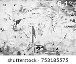 grunge background from old torn ... | Shutterstock . vector #753185575