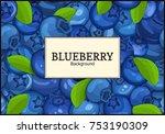 rectangular white label on ripe ... | Shutterstock .eps vector #753190309