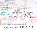 mullingar. canada on a map.   Shutterstock . vector #753191011