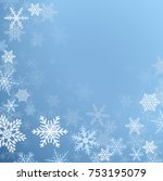 winter frozen background with... | Shutterstock .eps vector #753195079