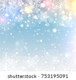 christmas background with... | Shutterstock .eps vector #753195091