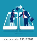 online communication.... | Shutterstock .eps vector #753199201