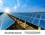 solar energy panels and wind... | Shutterstock . vector #753202045