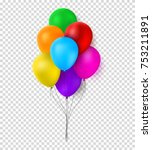 festive color balloons template.... | Shutterstock .eps vector #753211891