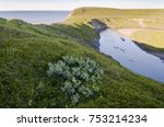 the landscape of the arctic... | Shutterstock . vector #753214234