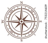compass in vintage style on... | Shutterstock .eps vector #753214609