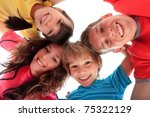 two sisters and two brothers... | Shutterstock . vector #75322129