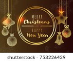 merry christmas and happy new...   Shutterstock .eps vector #753226429