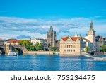 charles bridge in prague  czech ... | Shutterstock . vector #753234475