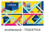 yellow business template with...   Shutterstock .eps vector #753237514