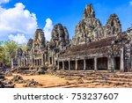 angkor  cambodia. the inner...   Shutterstock . vector #753237607