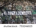 wall slogan in hong kong  pdr... | Shutterstock . vector #753246025