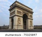 arc de triomphe   arch of...   Shutterstock . vector #75325897