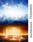judgment day  heaven and hell ... | Shutterstock . vector #753264055