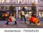 group of  women shoppers... | Shutterstock . vector #753265135