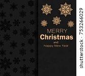 winter background. postcard... | Shutterstock .eps vector #753266029
