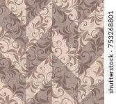 seamless damask pattern....   Shutterstock .eps vector #753268801