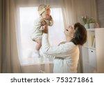 grandmother and granddaughter... | Shutterstock . vector #753271861