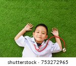 i want to be a doctor concept... | Shutterstock . vector #753272965