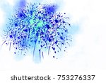 digital painting colorful... | Shutterstock . vector #753276337