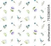 little flower and leaves... | Shutterstock . vector #753280354
