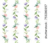little flower and leaves... | Shutterstock . vector #753280357