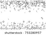 notes borders. music decoration ... | Shutterstock .eps vector #753280957