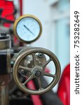 gage and wheel from old poole... | Shutterstock . vector #753282649