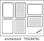 notebook icon set.  ... | Shutterstock .eps vector #753288781