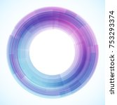 geometric frame from circles ... | Shutterstock .eps vector #753293374
