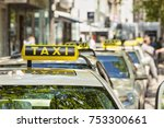 german taxi cabs waiting in... | Shutterstock . vector #753300661
