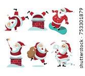 santa claus collection....   Shutterstock .eps vector #753301879