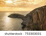 south stack lighthouse on holy... | Shutterstock . vector #753303031